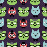 Cute cats seamless pattern Royalty Free Stock Image