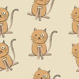 Cute cats seamless pattern vector illustration royalty free illustration