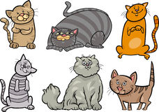 Cute cats set cartoon illustration Stock Image