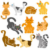 Cute Cats Vector Set. A set of cute differents vector cats Royalty Free Stock Photo