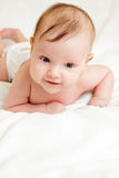 Cute caucasian baby Stock Images