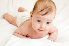 Cute caucasian baby Royalty Free Stock Photos