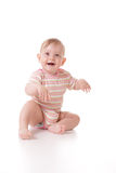 Cute caucasian baby Royalty Free Stock Images