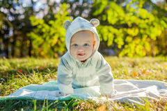 Cute caucasian baby boy Royalty Free Stock Image