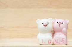 Cute ceramic bears Royalty Free Stock Images