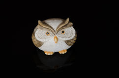 Cute ceramic owl Stock Images