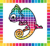 Cute chameleon Royalty Free Stock Image
