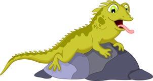 Cute chameleon cartoon Stock Photo