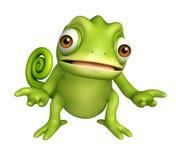 Cute Chameleon funny cartoon character Stock Photography