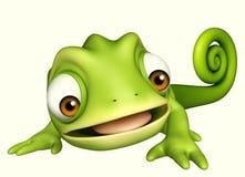 Cute Chameleon funny cartoon character Royalty Free Stock Photo