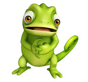 Cute Chameleon funny cartoon character Royalty Free Stock Image