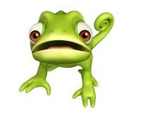Cute Chameleon funny cartoon character Royalty Free Stock Photos