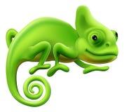 Cute Chameleon Illustration. An illustration of a cute green cartoon chameleon lizard Royalty Free Stock Image