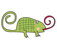 Cute chameleon Stock Images