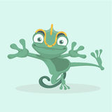 Cute chameleon. Royalty Free Stock Photos