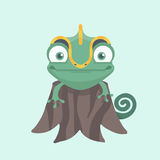 Cute chameleon. Royalty Free Stock Image