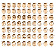 Cute Character Cartoon Emotion Boy Face Royalty Free Stock Photography