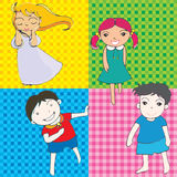 Cute character of children Royalty Free Stock Photography