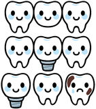 Cute character of dental treatment Royalty Free Stock Photography