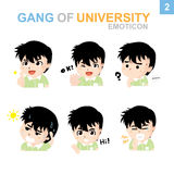 Cute Emticon design - Boy Set. Cute emoticon design Boy Set with Illustrator Stock Photos