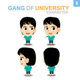 Cute character design - Boy Set. Cute character design Boy Set with Illustrator Royalty Free Stock Photography