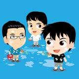 Cute character design - Songkran Festival Stock Images