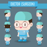 Cute Character illustration of a Doctor in the Hospital. Stock Photography