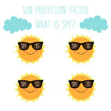 Cute character of Sun with sunglasses Stock Images