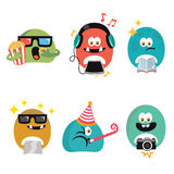 Cute Character Template Design Royalty Free Stock Photos