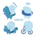 Cute character troll, hippo Stock Image