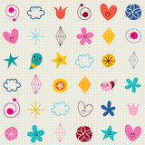 Cute characters note book paper seamless pattern Royalty Free Stock Image