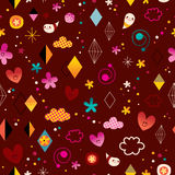 Cute characters seamless pattern. Design Stock Photography