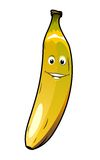 Cute cheeky smiling cartoon banana Royalty Free Stock Photo
