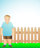 Cute cheerful boy. The funny cute boy standing and smiling Royalty Free Stock Images