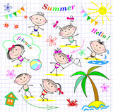 Cute cheerful kids Stock Photos