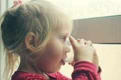 Cute cheerful little girl Stock Photos