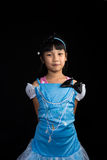 Cute, cheerful little girl posing Stock Photo