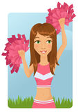 Cute cheerleader girl Stock Photography