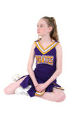 Cute Cheerleader in Unofficial Name and Colors Royalty Free Stock Images
