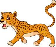 Cute cheetah cartoon Royalty Free Stock Photography