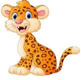 Cute cheetah cartoon Stock Photography