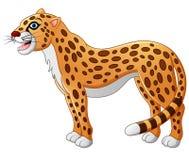 Cute cheetah cartoon Royalty Free Stock Photos