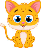 Cute Cheetah cartoon Royalty Free Stock Photo
