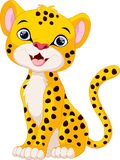 Cute cheetah cartoon sitting Stock Photography