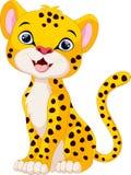 Cute cheetah cartoon sitting. Illustration of cute cheetah cartoon sitting Stock Photography