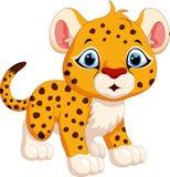 Cute cheetah cartoon Stock Image