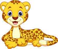Cute cheetah cartoon Stock Photography