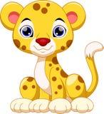 Cute cheetah cartoon. Cute cheetah with white background Royalty Free Stock Image