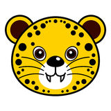 Cute Cheetah Vector. Cute animal faces in  (One of 25 of them Royalty Free Stock Photography