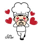 Characters set in chef uniform.Vecter element royalty free illustration